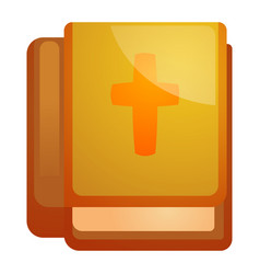bible book icon cartoon style vector image