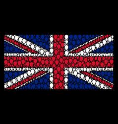 british flag pattern of celebration balloon icons vector image