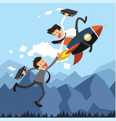 Business assistance rocket vector