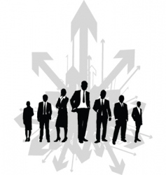 business directions vector image
