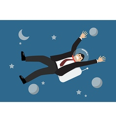 Businessman floating in the space vector