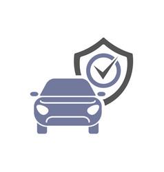 car guard shield sign collision insurance shop vector image