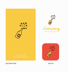 celebrations drink company logo app icon and vector image