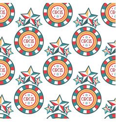 Circus vintage signboard labels seamless pattern vector