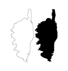 Corsica outline map vector