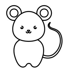 cute and tender mouse kawaii style vector image