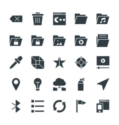 Design and development cool icons 5 vector