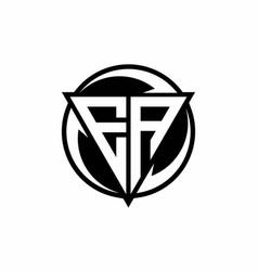 Ea logo monogram design template vector