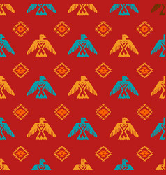 eagles and rhombus seamless pattern vector image