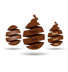 Easter egg banners vector image