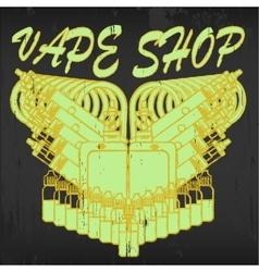 Emblem of vape shop vector