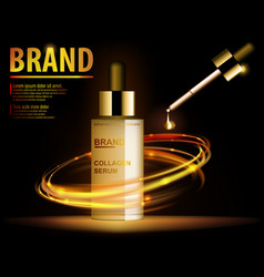 Essence translucent contained ads gold makeup vector
