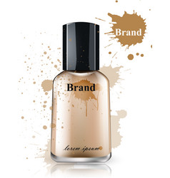 face foundation bottle watercolor product vector image