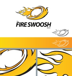 Fire Swoosh Abstract Symbol Branding Design Elemen vector