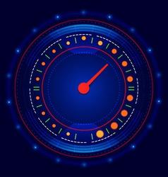 Futuristic car speedometer vector image