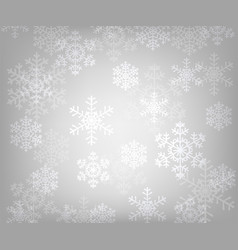 glowing snowflakes vector image