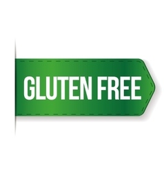 Gluten free sign ribbon vector