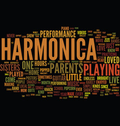 Grab a harmonica text background word cloud vector