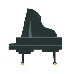 Grand piano part of musical instruments set of vector