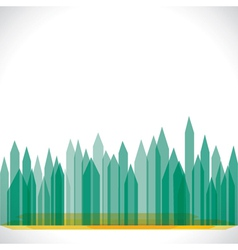 Green eco buliding city stock vector