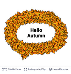 Greeting autumn speech bubble vector