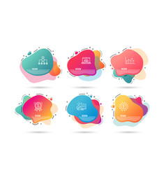 growth chart reward and restructuring icons vector image