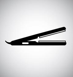 hair iron design vector image