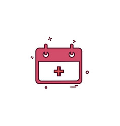 Hospital calender date day icon design vector