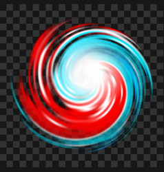 hurricane symbol on dark transparent background vector image