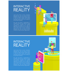 interactive reality people vector image