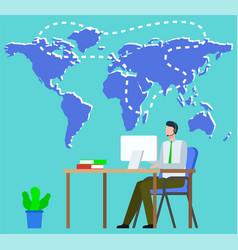 International business and partners worldwide vector