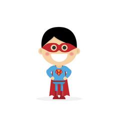 Isolated boy dressed as a superhero vector