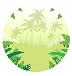 Jungle Flat Background15 vector