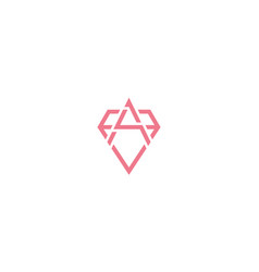 Letter a or initial a with diamond line logo vector