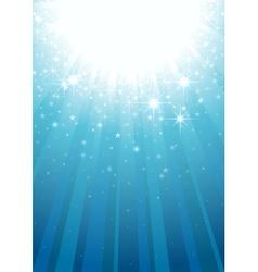 magic light rays vector image