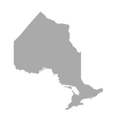 Map of ontario vector