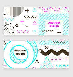 mempis banner set color vector image
