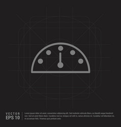 meter icon - black creative background vector image