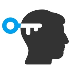 Mind Key Flat Icon vector