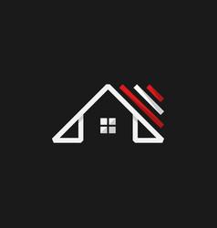 Minimalist rorealty creative logo design vector