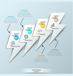 Modern infographic design template - 4 overlapping vector