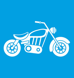 motorcycle icon white vector image
