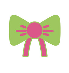 nice ribbon bow decoration design vector image