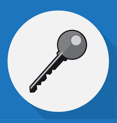 of safety symbol on key flat vector image