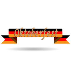 oktoberfest on germany flag flat vector image