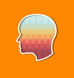 Person Head in triangles Concept of modernism and vector image