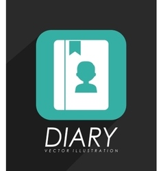 Personal diary icon vector