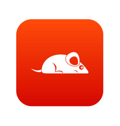 pet mouse icon digital red vector image