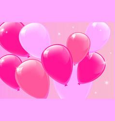pink balloons vector image
