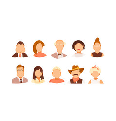 portraits collection vector image